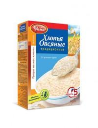 Хлопья Овсяные традиционные Увелка 400гр.