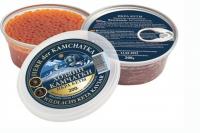 Хозяин Камчатки Икра зернистая лососевая (КЕТА) дальневосточная, малосольная, без консервантов (солено-мороженая) 200г