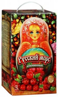 Морс русский из клюквы, 3 л.