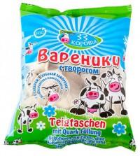 33 Коровы Вареники  с творогом и сахаром 500 гр.