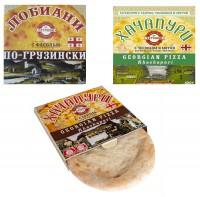 3 по цене 2х! - Хачапури от Татошки с имеретинским сыром, с чесноком и мятой, лобиани по грузински (Россия)