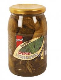 Емеля Золотая Пора Огурцы с дубовым листом 900ml
