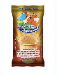 КИК Мороженое Пломбир крем-брюле в вафельном стаканчике 100г, Россия