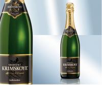Крымское игристое вино, белое полусухое 12.5% (Украина)