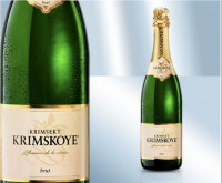 Крымское игристое вино, белое брют 12.5% (Украина)
