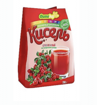 Кисель Фитодар клюквенный на натуральной основе, витаминизированный 200 г