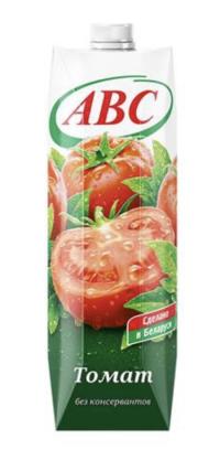 ABC Томатный сок с мякотью и солью 1L, без консервантов  (Беларусь)