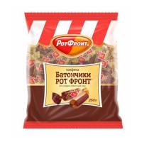 Конфеты Батончик РОТ ФРОНТ шоколадно-сливочный вкус 250g